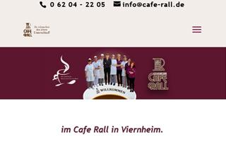 Neue Webseite vom Cafe Rall in Viernheim