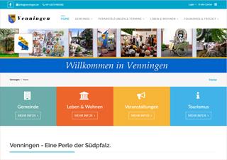 Neue Webseite von Venningen